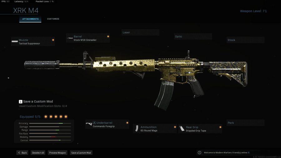 Лучшее снаряжение Warzone - m4a1
