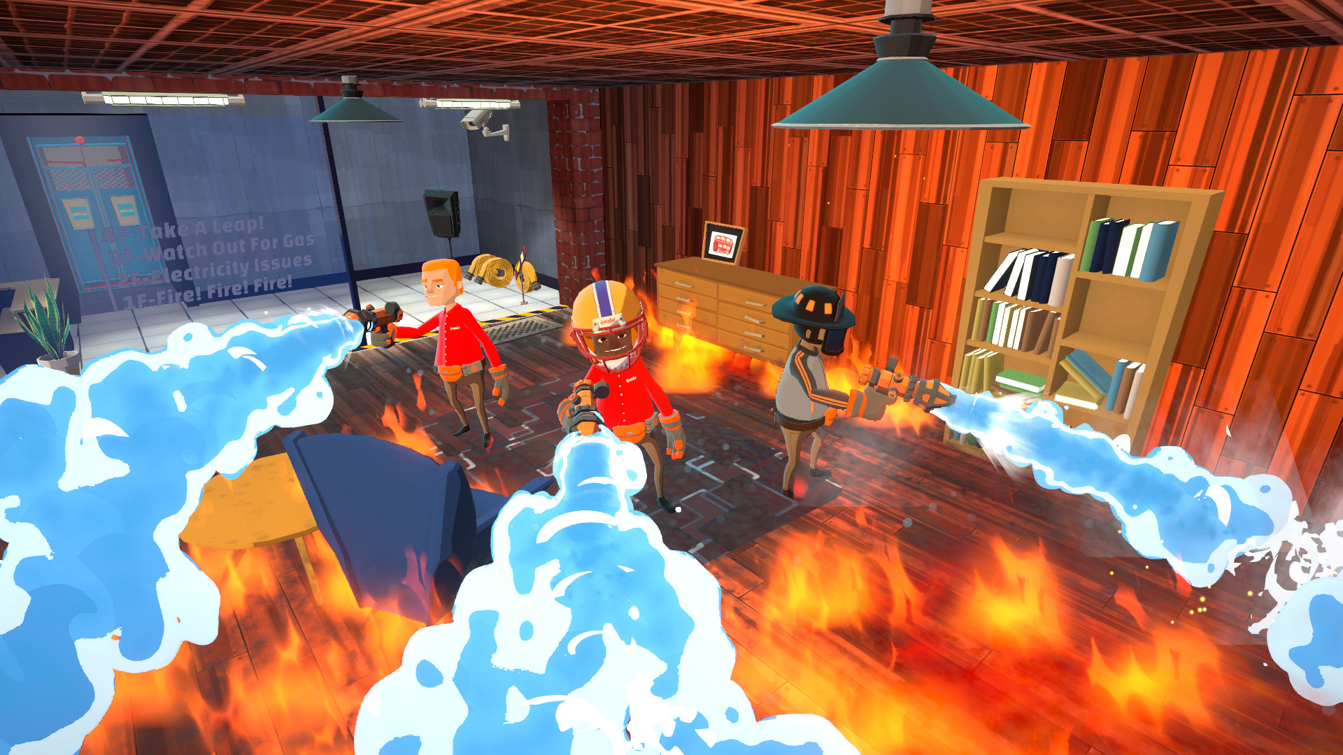 Embr is a couch co-op game about firefighting in the gig economy