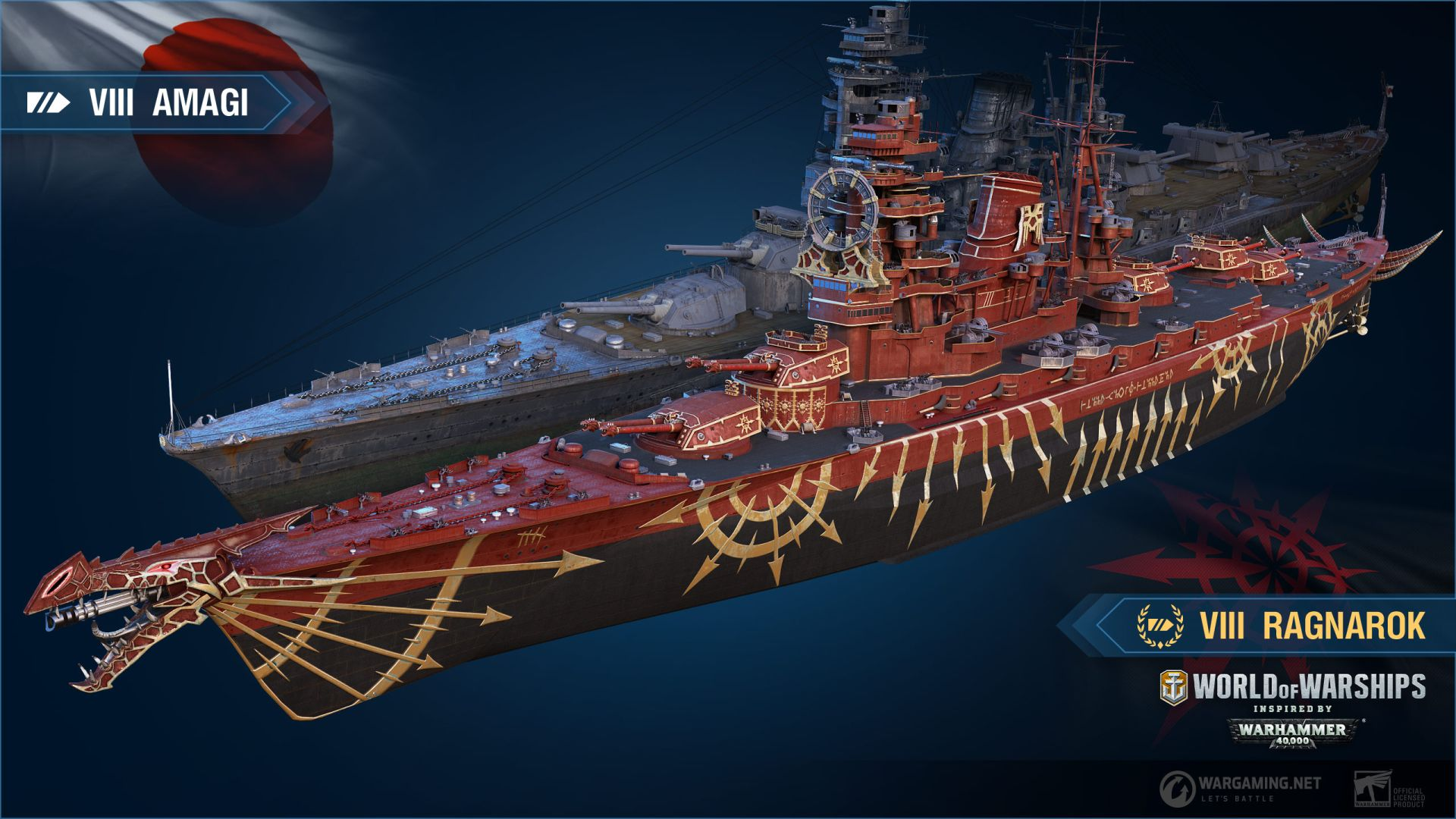 World Of Warships Gets A Warhammer 40 000 Crossover Next Month Pcgamesn