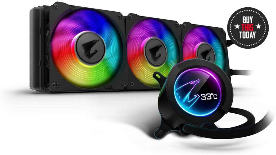 Gigabyte RGB LCD liquid cooler AIO