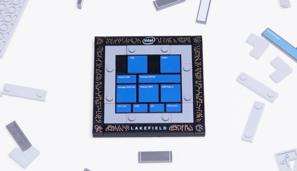 Intel Lakefield Foveros 3D die-stacked processor made from lego