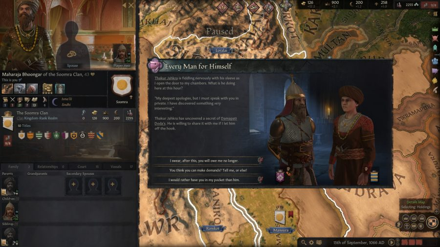 An event in crusader kings 3 one of the best strategy games on PC