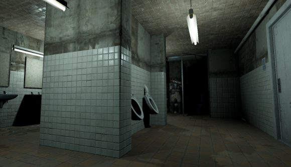Thebathroom from Goldeneye 007's facility level remade in Half Life Alyx