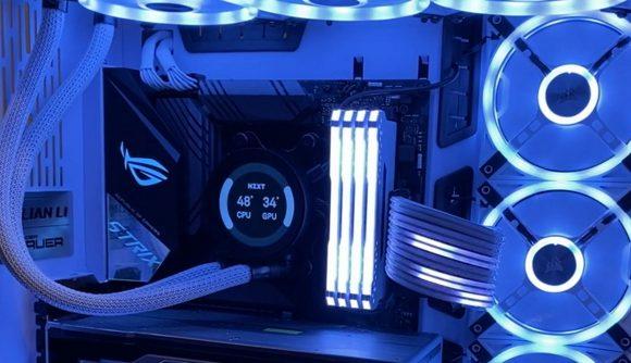 RGB cable white PC build