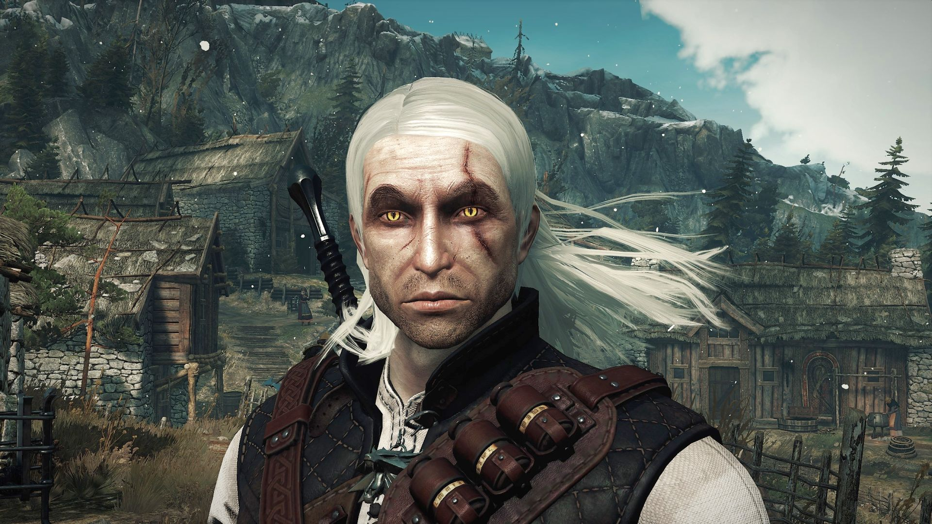 This Witcher 3 mod turns back the clock on Geralts face