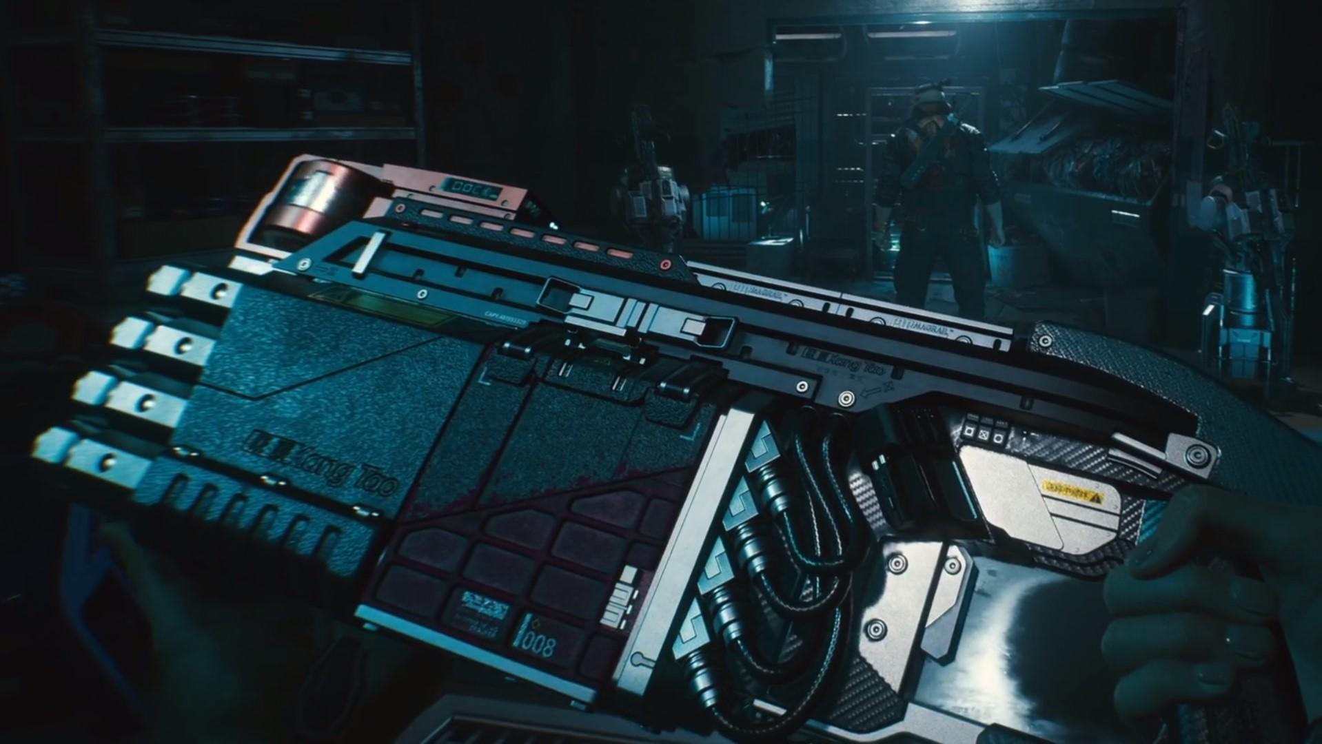 Cyberpunk 2077 has an eight-barreled aimbot shotgun