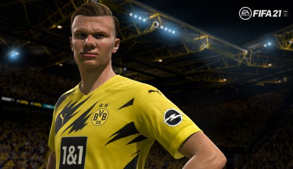 Borussia Dortmund's Erling Braut Haaland