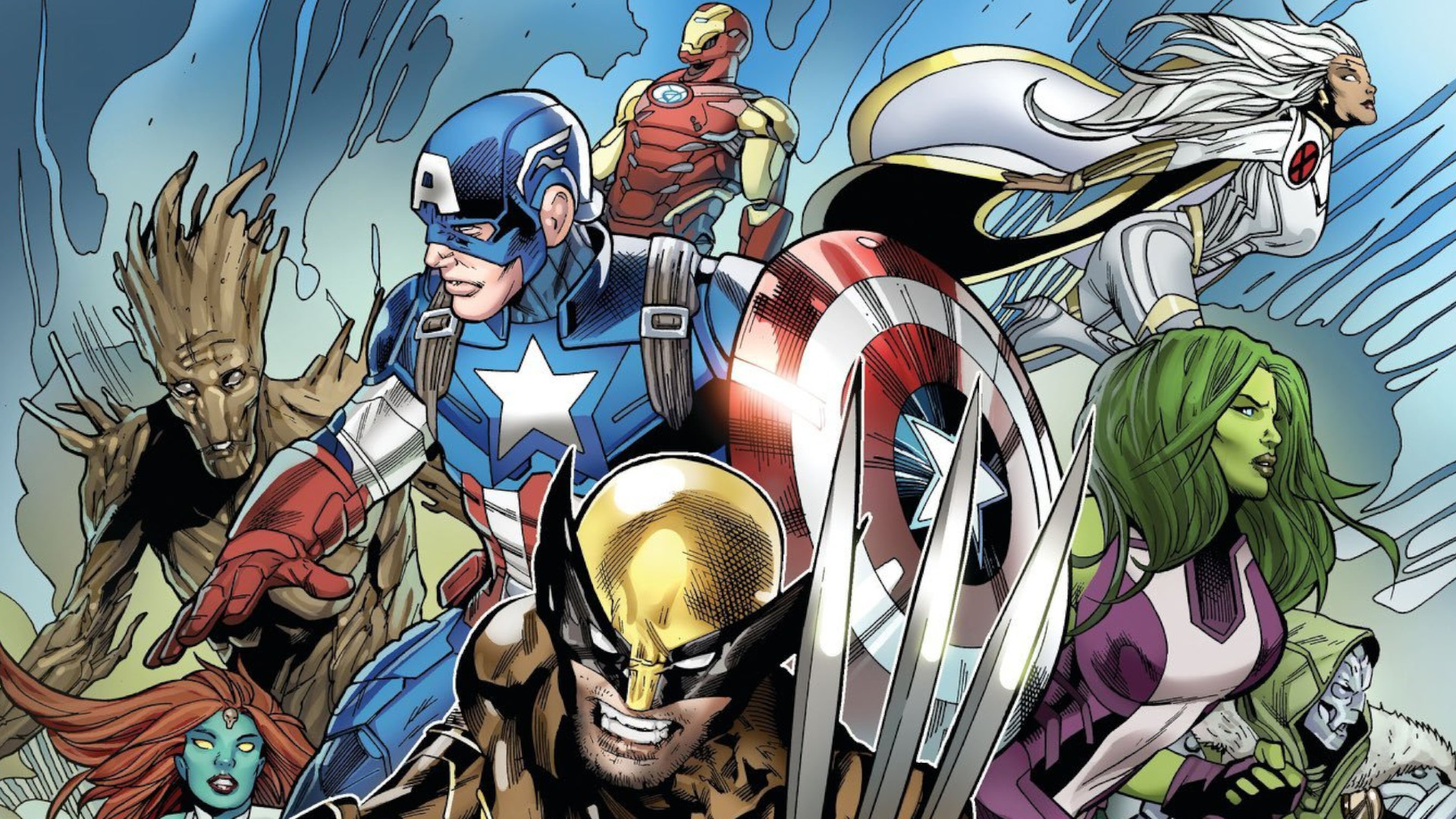 Fortnite Teasers Reveal A Load Of Marvel Skins Pcgamesn