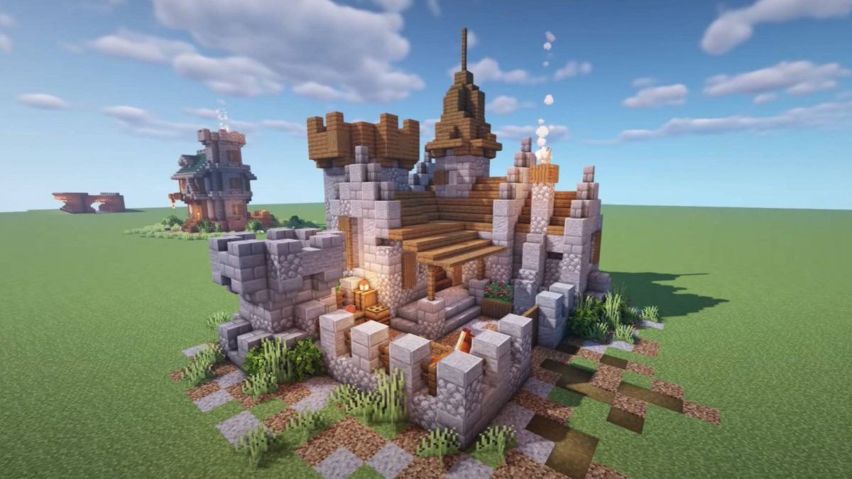 Minecraft Castle Ideas How To Build A Castle In Minecraft Using Blueprints Pcgamesn