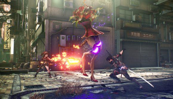 Some of Scarlet Nexus' combat in action