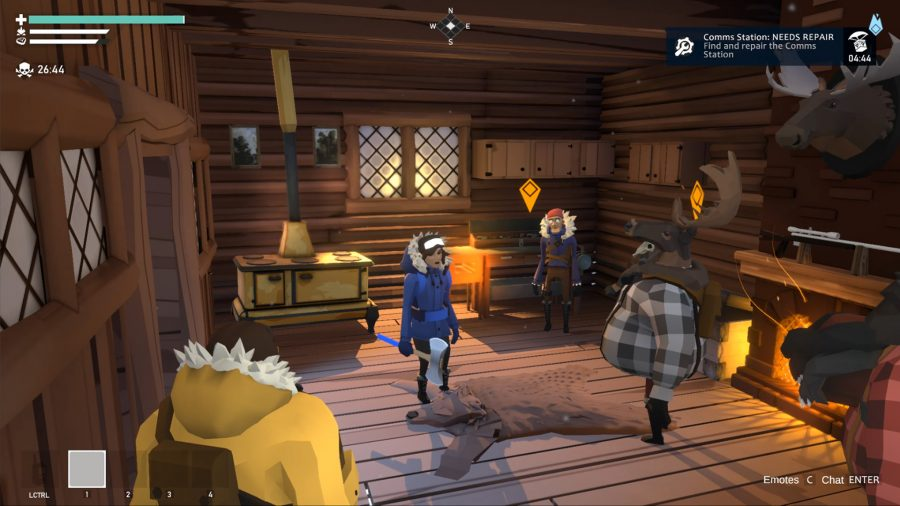 A meeting in a cabin in Project Winter