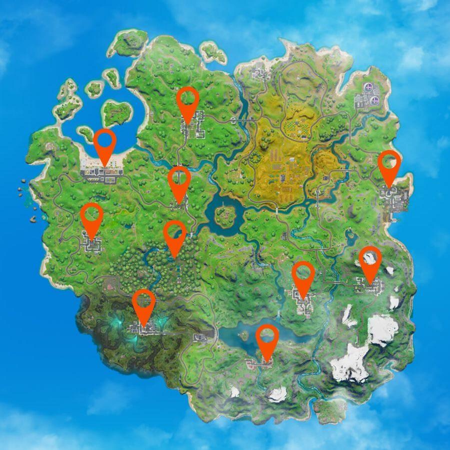 Карта тортов на день рождения Fortnite
