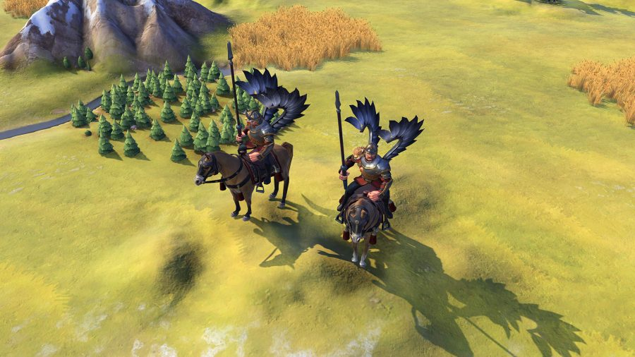 two winged hussar units in civ 6