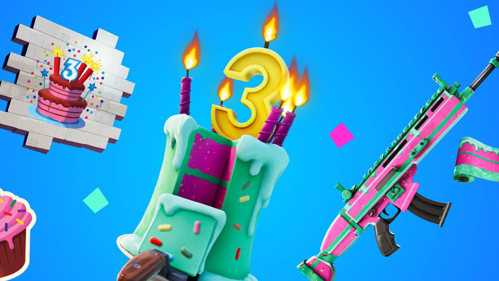 All Different Birthday Cakes Fortnite Where Are All The Birthday Cakes In Fortnite Pcgamesn