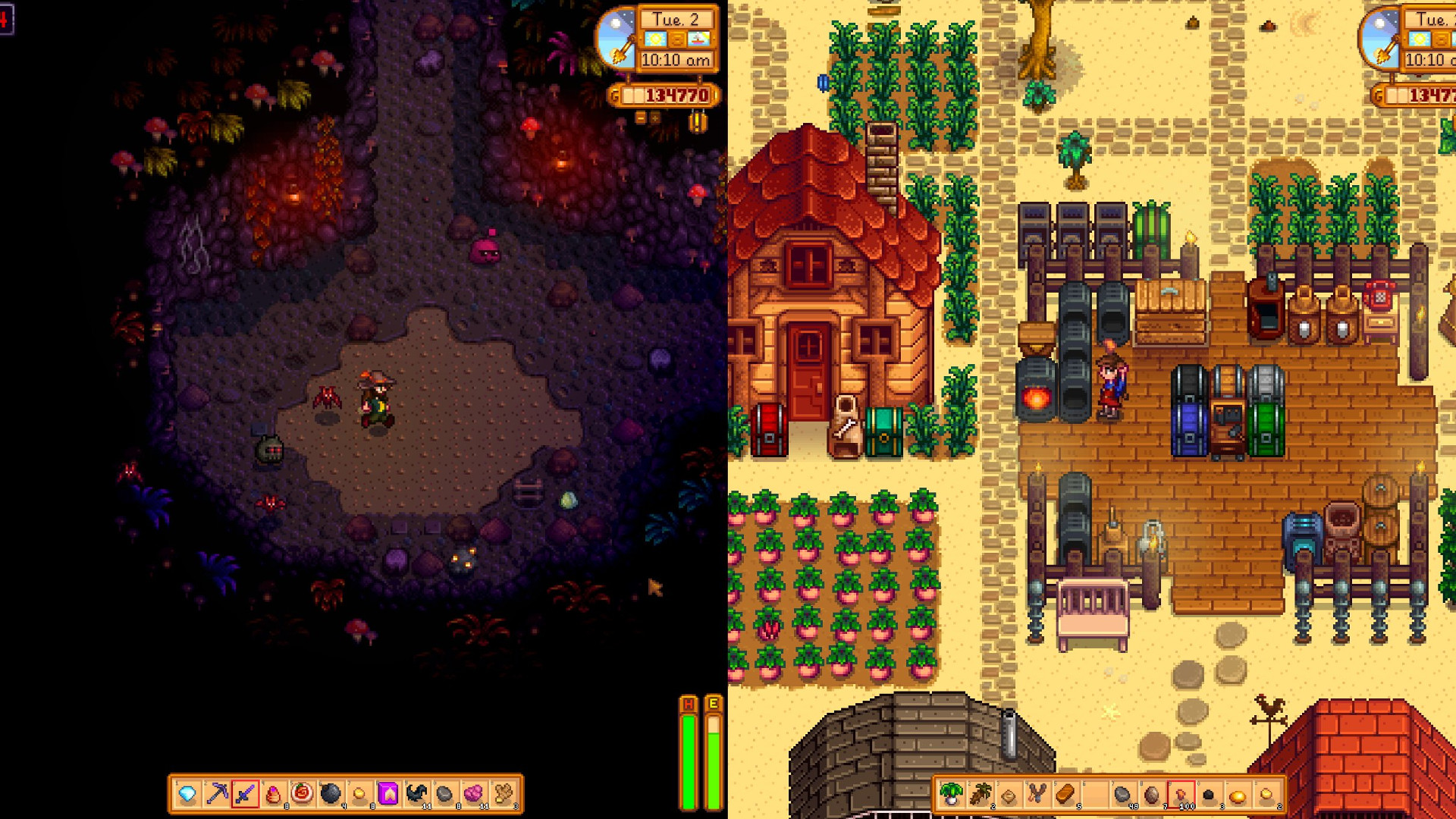 Stardew Valley is getting splitscreen co-op for up to four players