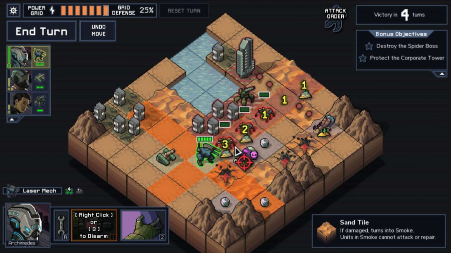 Best roguelike games - Into the Breach turn-based battle