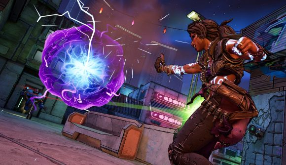 Borderlands 3 - character firing energy ball