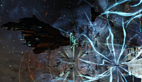 A shot of EVE Online's Fury at FWST-8 fight