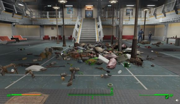 Fallout 4 mod - collection of random loot lying on the floor