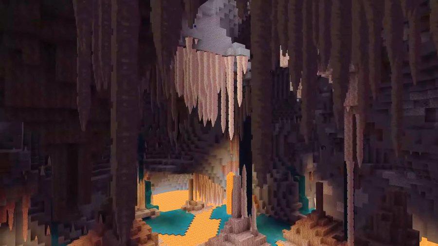 Minecraft dripstone caves