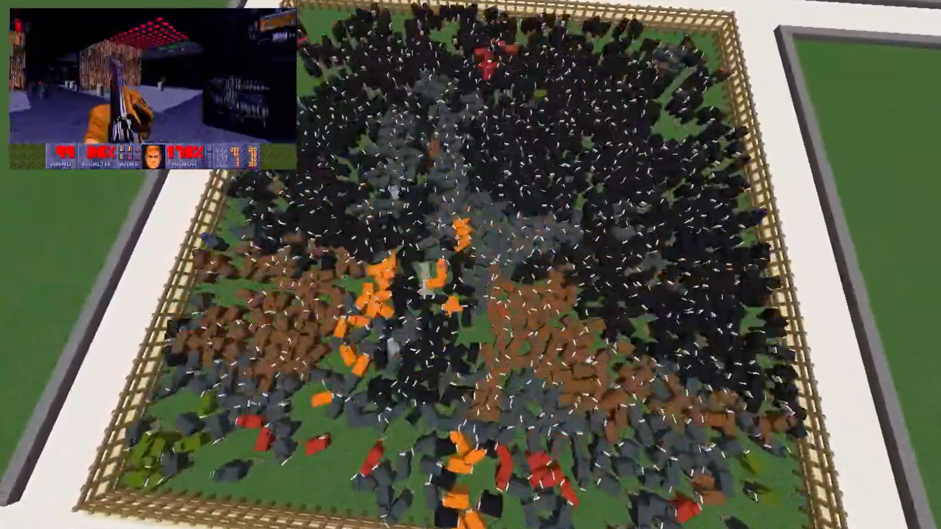Here's a Minecraft modder playing Doom on some sheep