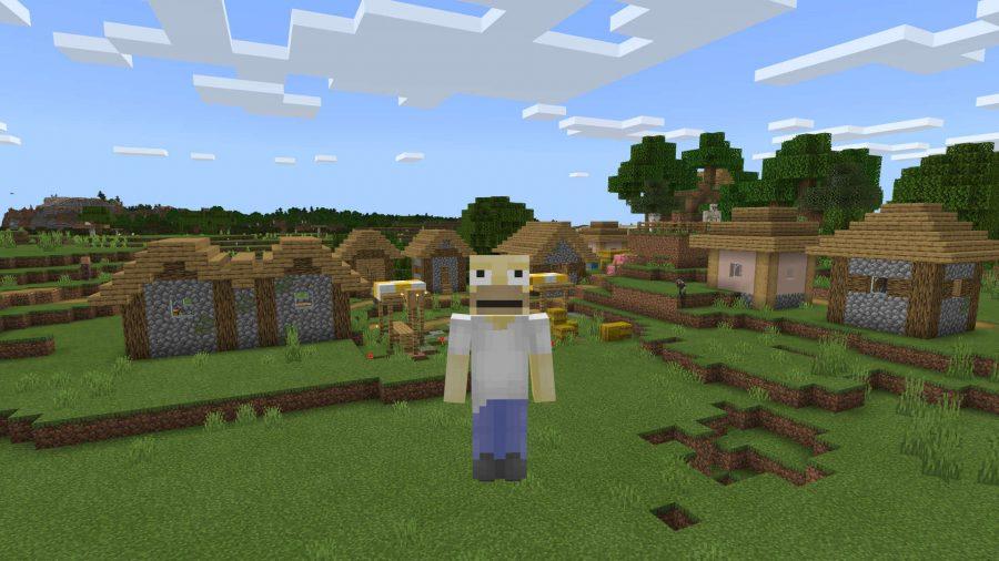 A Minecraft skin of Homer Simpson