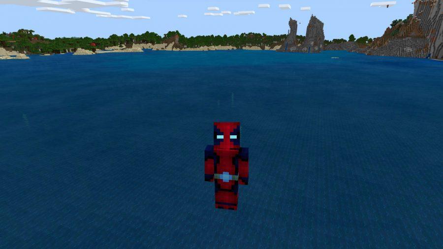 A Deadpool skin in Minecraft
