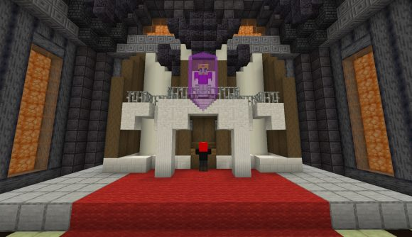 A scene from The Legend of Zelda: Ocarina of Time recreated in Minecraft