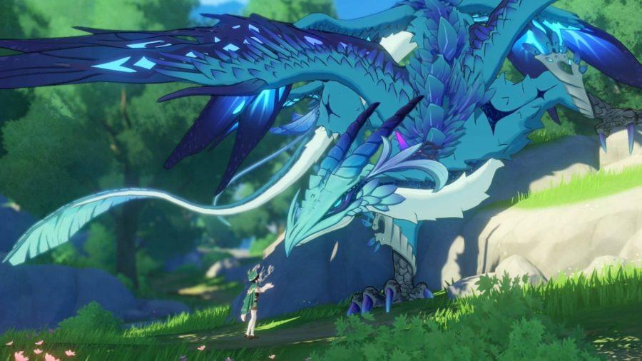 Giant Blue Dragon Jinshin Effect