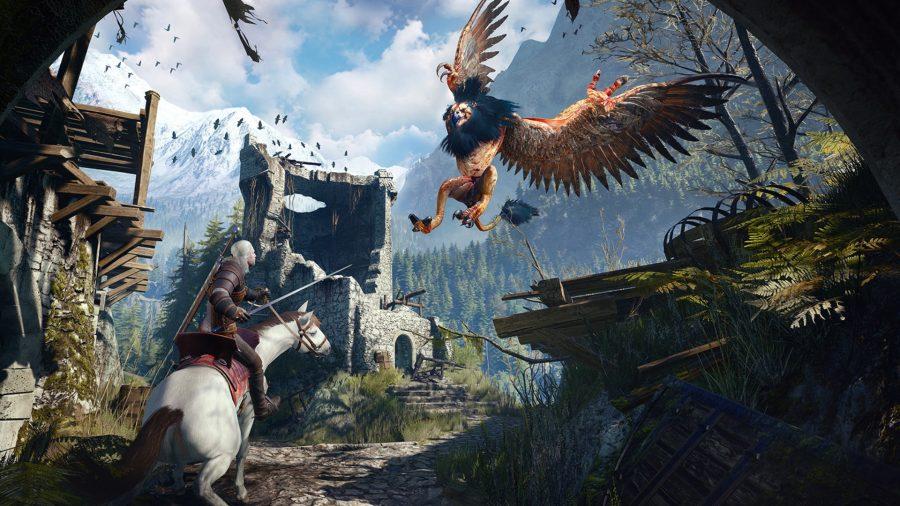 The Witcher 3 Wild Hunt griffin battle