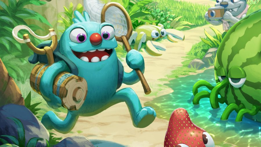 Bugsnax creature chasing bugs