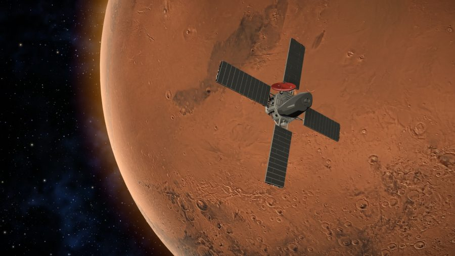 a satellite orbits mars
