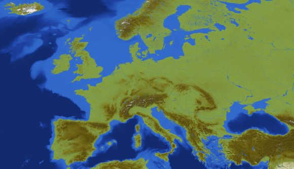 Europe rebuilt in Minecraft