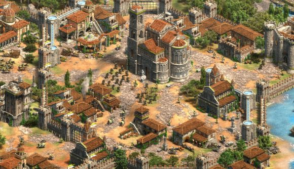 a shot of a Sicilian town in aoe2