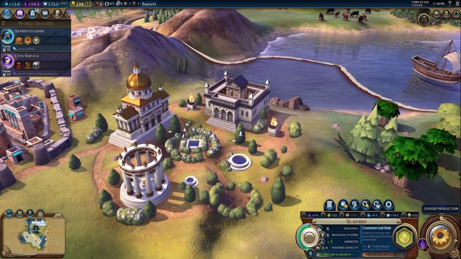 a close up shot of one the new buildings included in the religion expanded civ 6 mod