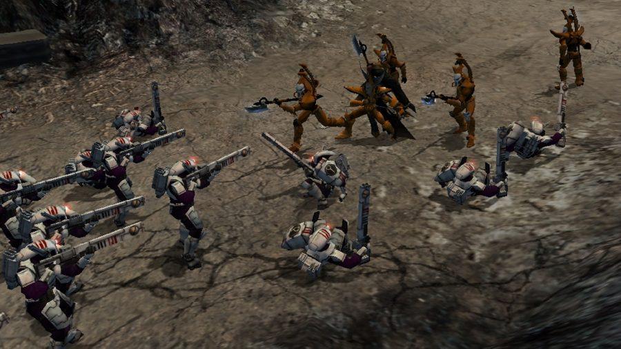 отряд Тау и Эльдерай сталкивается в ущелье