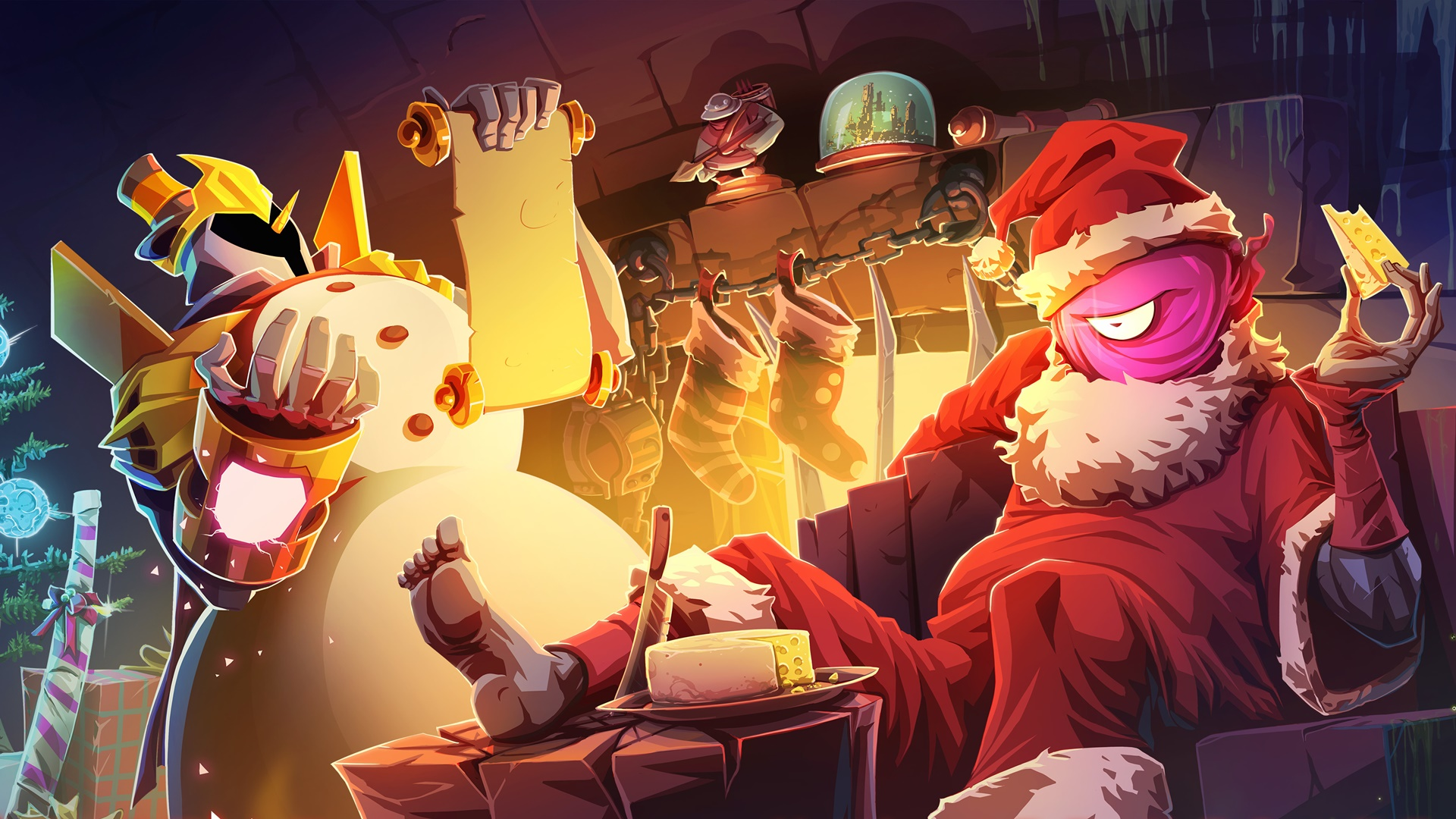 Dead Cells' new update lets you be Santa and eat cheese