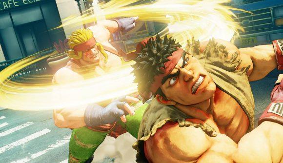 Fighting game KO in Street Fighter