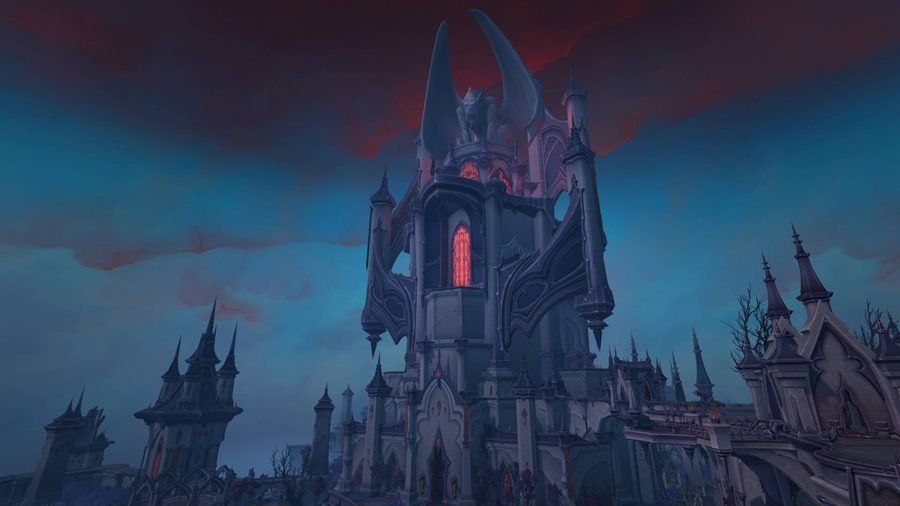 The exterior of the Nathria Castle raid in WoW Shadowlands