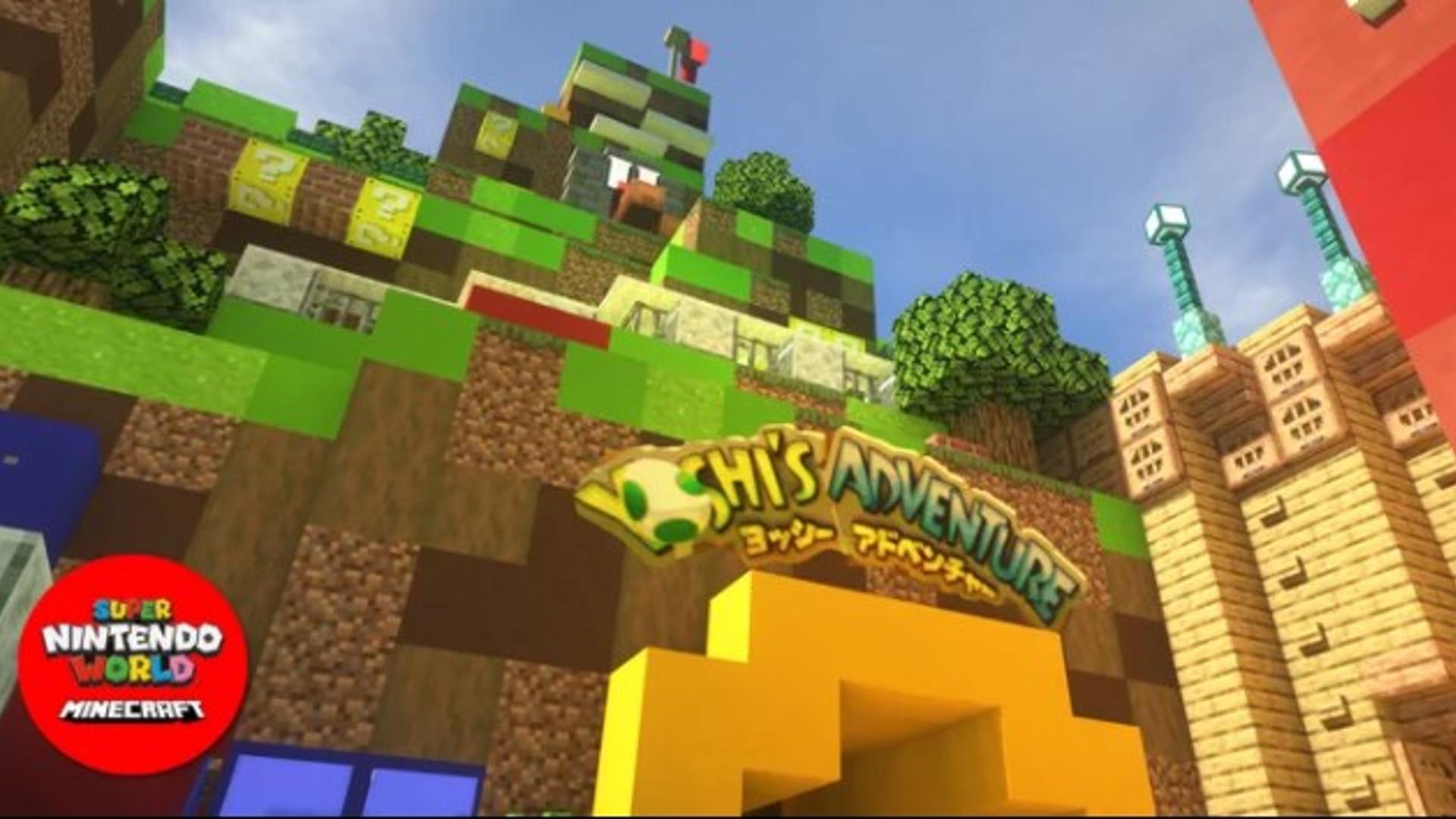 Super Nintendo World is being built in Minecraft
