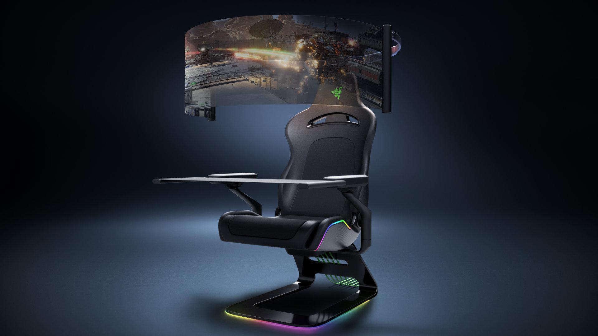 Razer's concept gaming cockpit is surprisingly sensible