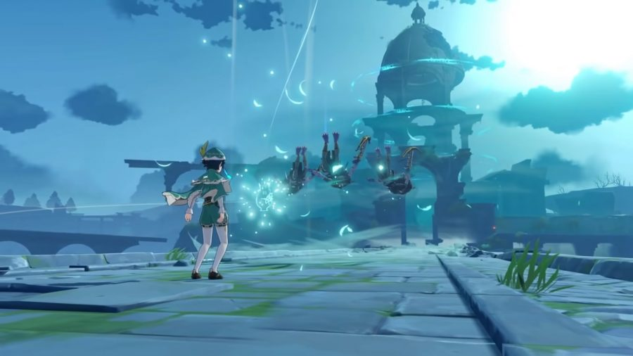 Venti uses the Skyward Sonnet skill, which will be amplified with the best support build.