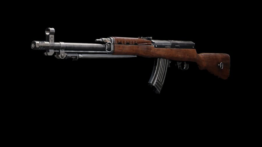 The Type 63 featured on a black background in Call of Duty Warzone's preview weapon menu