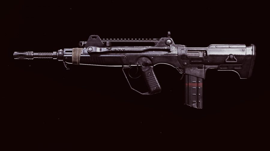 The stock FFAR 1 assault rifle in Call of Duty Warzone's preview weapon menu