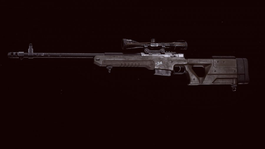 The LW3 Tundra sniper rifle in Call of Duty: Warzone