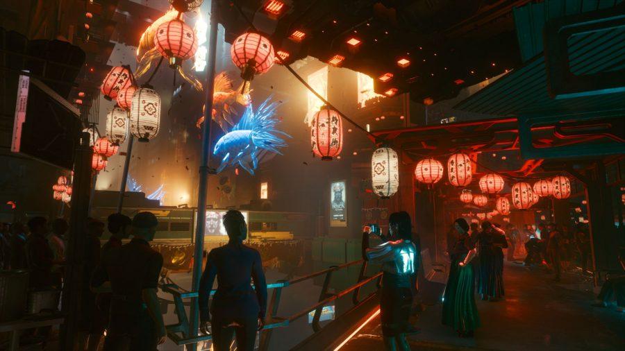 Cyberpunk 2077 heist mission - Japantown Market