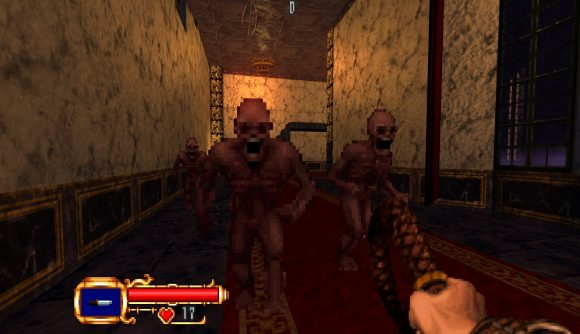 Two zombies attacking Simon in a Doom mod for Castlevania