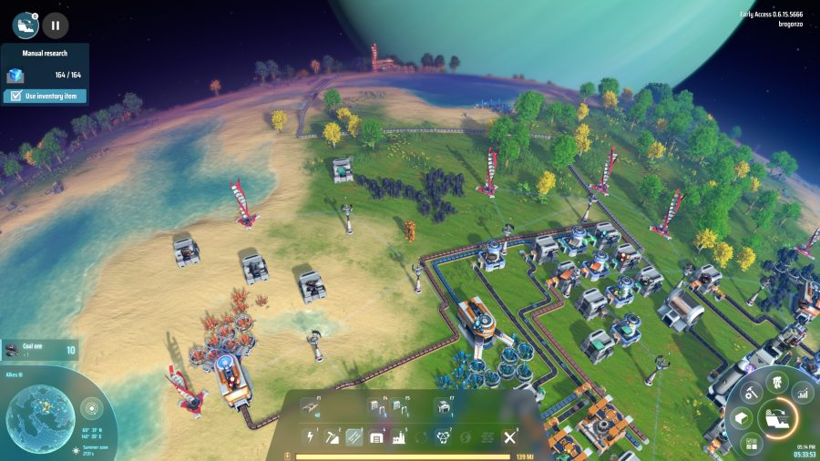 Overview of the new Steam Early Access game, Dyson Sphere