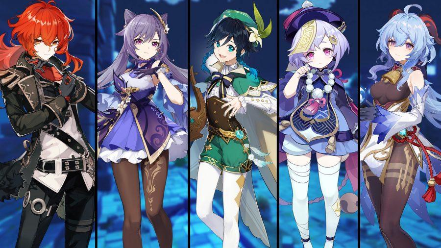 Genshin Impact SS + tier character lineup