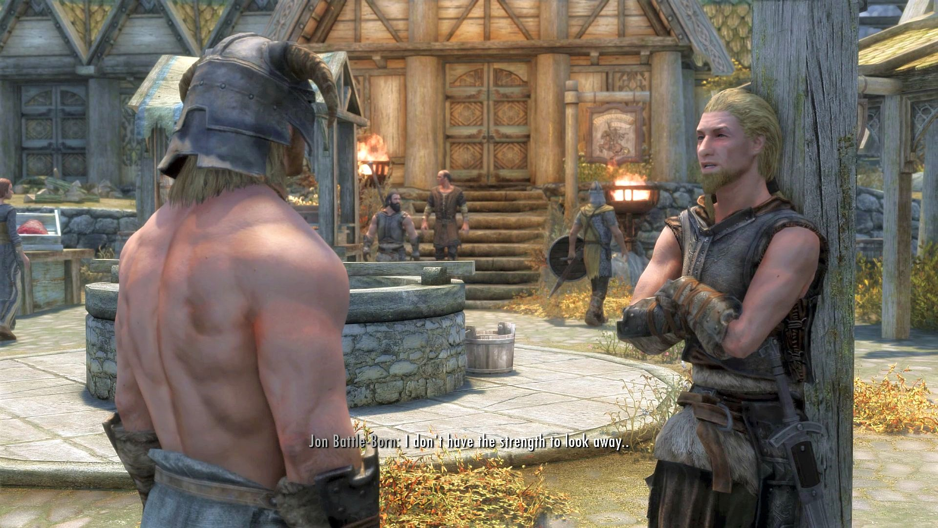 This Skyrim mod makes NPCs compliment you for strutting around in the nude